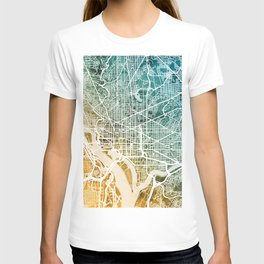 Washington DC Street Map T-shirt