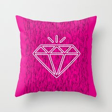diamond magenta Throw Pillow