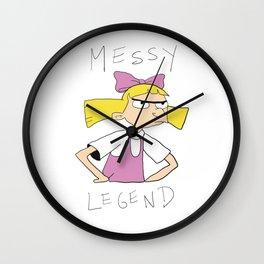 Messy Legend Wall Clock