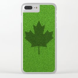 Grass flag Canada / 3D render of Canadian flag grown from grass Clear iPhone Case