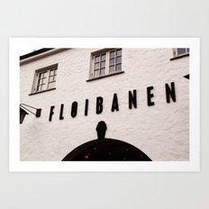 Fløibanen I Art Print