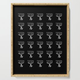menorah 8,Hanukkah,jewish,jew,judaism,Festival of Lights,Dedication,jerusalem,lampstand,Temple, מְנו Serving Tray