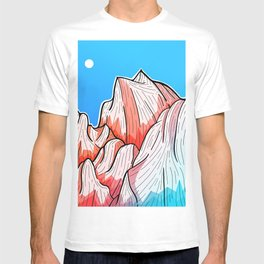 The red and blue tipped mountains T-shirt