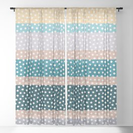 Dots and Stripes Sheer Curtain