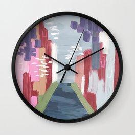 Spring Abstract 1 Wall Clock