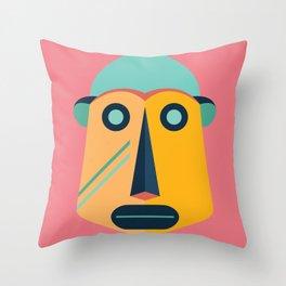 Striped Monkey Throw Pillow