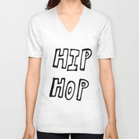 hip hop V-neck T-shirts featuring HIP HOP by Simon Greiner