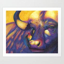 Wild Water buffalo Art Print