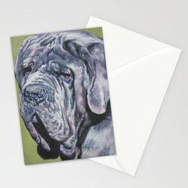 Neapolitan Mastiff dog art portrait from an original painting by L.A.Shepard Stationery Cards