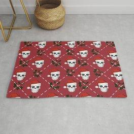 Skull Christmas pattern Rug