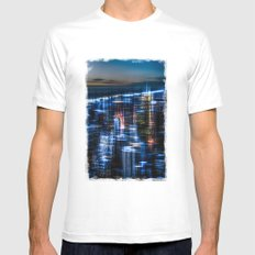 New York - the night awakes Mens Fitted Tee White SMALL