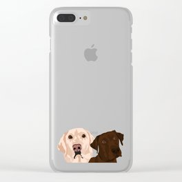 2 Labradors Clear iPhone Case