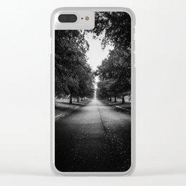 The Lone Walk Clear iPhone Case