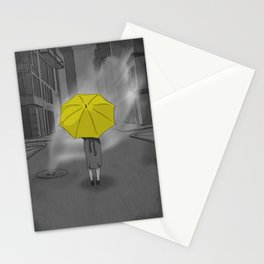 The Girl With The Yellow Umbrella - HIMYM Stationery Cards