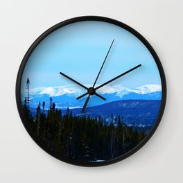 Chic-Choc Mountains in snow Wall Clock