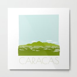 Caracas City by Friztin Metal Print