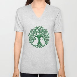 Tree of life green Unisex V-Neck