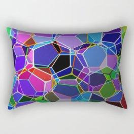 Geometric Genetics - Metallic, abstract, geometric pattern Rectangular Pillow