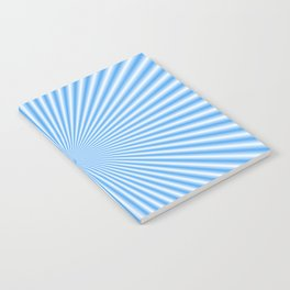 64 Baby Blue Rays Notebook