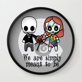 Jack and Sally - We are simply meant to be Wall Clock