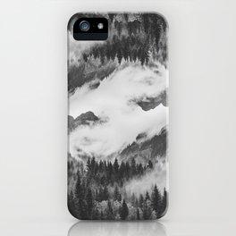 Misty Mountain II B&W iPhone Case