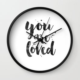 PRINTABLE ART, You Are So Loved,Love Quote,Love Art,Love Sign,Boyfriend Gift,Gift For Her,Engagement Wall Clock