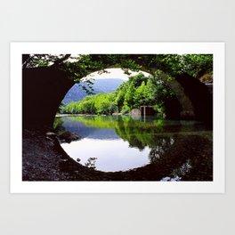 A Bridge Crossing Voidomatis River Art Print