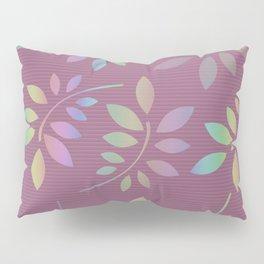 Scattered Leaves Rose Rainbow Pillow Sham