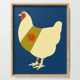 Decorated war chicken Serving Tray