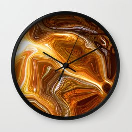 Earth Tones, Digital Fluid Artwork Wall Clock