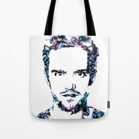 jesse pinkman Tote Bags featuring Jesse Pinkman by NKlein Design