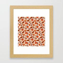 Pumpkin Fanatic Framed Art Print