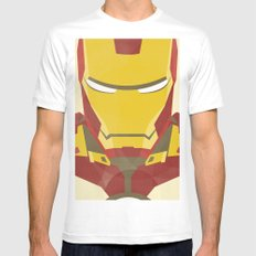 IRON MAN White MEDIUM Mens Fitted Tee