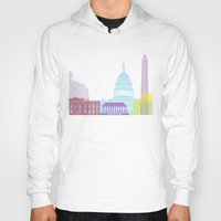 washington dc Hoodies featuring Washington DC skyline pop by Paulrommer