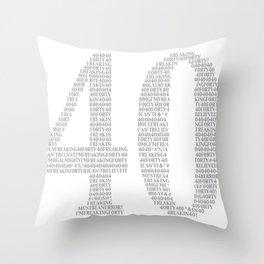 OMG I'm 40! Throw Pillow