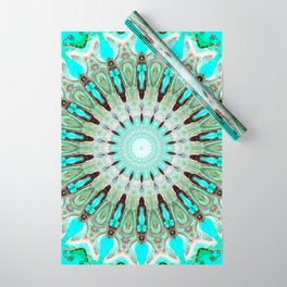 Tropical Floral Mandala Wrapping Paper