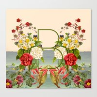 botanical Canvas Prints featuring Botanical by Blue Jean Genie