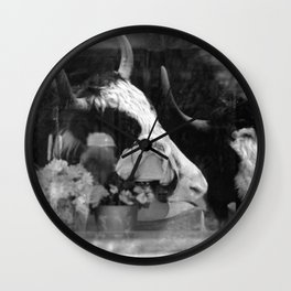 Friendly Horns Wall Clock