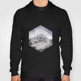 Have Faith Inspirational Typography Over Mountain Hoody