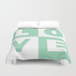 Love Mint Duvet Cover