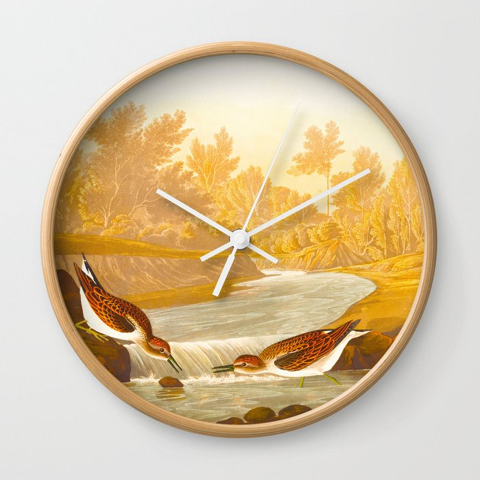 Little Sandpiper Bird Wall Clock by enshape | Society6