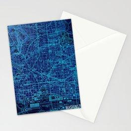 Washington West Columbia year 1945 old blue map Stationery Cards