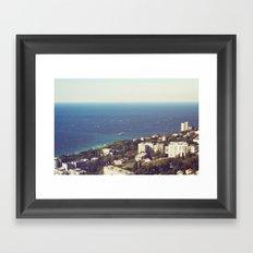 sea landscape Framed Art Print