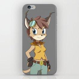 Caracal Cat Girl iPhone Skin