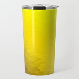 Yellow Texture Ombre Travel Mug