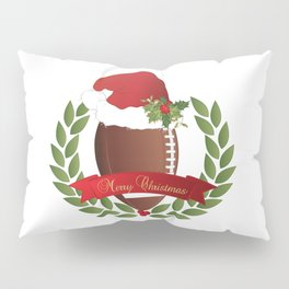 Football Christmas Design Pillow Sham