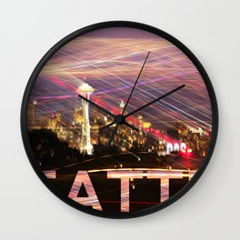 Seattle long exposure  Wall Clock