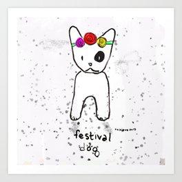 Festival Dog Art Print