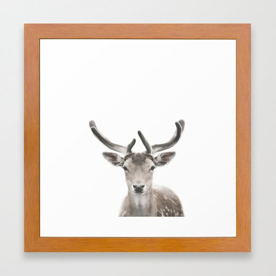 Deer Print, Deer Antlers, Forest Animal Wall Art Framed Art Print by ...