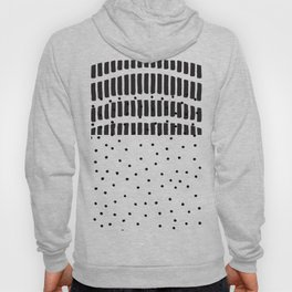 Modern black white  watercolor brushstrokes polka dots Hoody